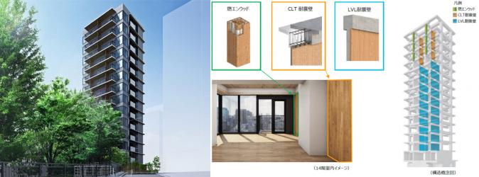 日本在东京建造的第一栋木结构高层公寓