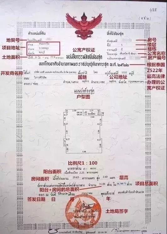 泰国收房三大文件!购房合同、地契、户口簿长什么样?