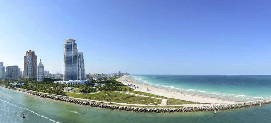1 月迈阿密豪华公寓的年销售额增长了 130%