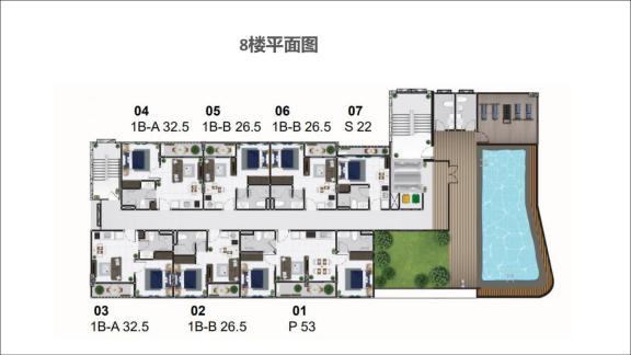 8楼平面图