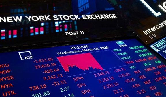 全球股市因冠状病毒大流行而下跌