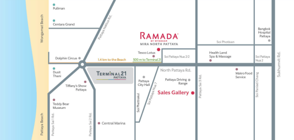 华美达北芭堤雅米拉酒店 Ramada Mira North Pattaya