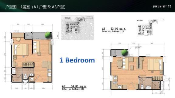 户型图1居室