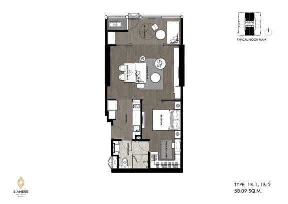 皇后级地铁房 -Siamese Exclusive Queens 公寓